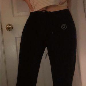 Black lulu lemon leggings flare yoga pants